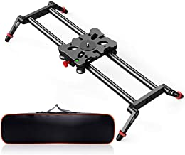 Camera Slider, FOSITAN 15.7 inch /40cm Carbon Fiber Camera Track Slider Dolly Rail Track Slider Video Stabilizer with 4 Roller Bearings for Camera DSLR Video Movie Photography Camcorder 17.6lbs Loadin