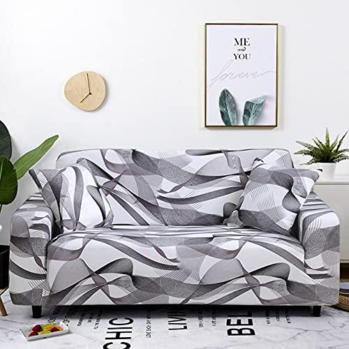 uyeoco Fundas de sofá 1 2 3 4 Plazas Elasticas Protector de Muebles Ajustables Impresión Protector de sofá (Color : O, Size : 4 posti (235-300cm))