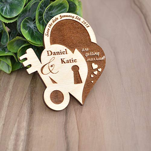 Wood Wedding SAVE the DATE MAGNETS//Save the Date Cards - Rustic Save the Date - Personalized Save The Date - Wood Wedding Invites