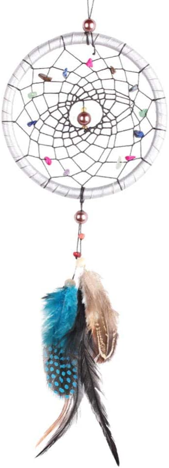 Feather Wind Chimes Car Max 53% OFF Pendant Catcher Dream Agate Gifts Popular overseas Gravel