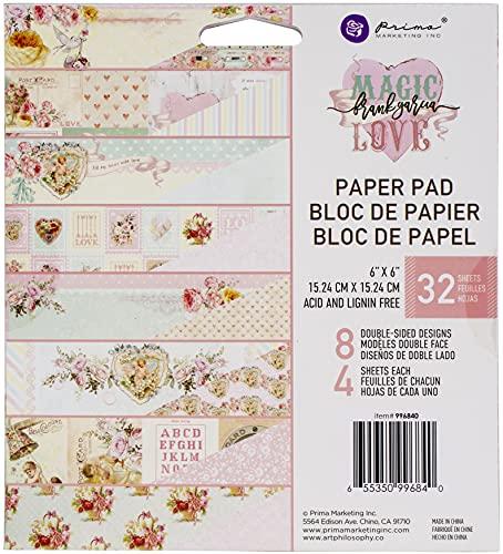 Frank Garcia 655350996840 Paper PAD 6X6 Magic Love Papierblock, 15,2 x 15,2 cm, Weiß, 6-x-6-Inch