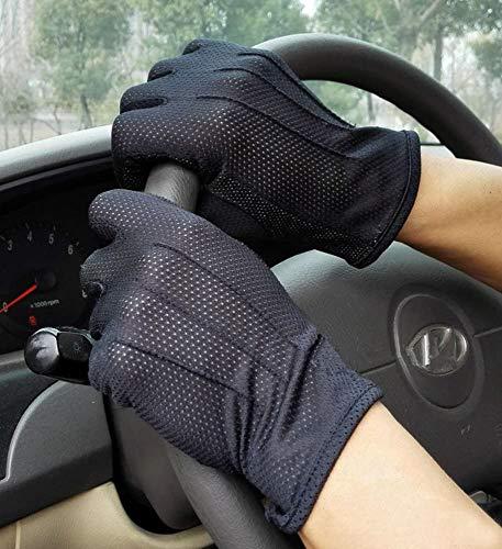 Handschuhe Dünn Fahrradhandschuhe Touchscreen RadsporthandschuheHerren Damen Motorradhandschuhe Sonnenschutz Atmungsaktiv Fahrerhandschuhe Baumwolle Reithandschuhe für Outdoor Motorrad