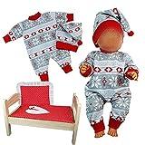 Kindabox Ropa para muñecas de 4 piezas, para muñecas de hasta 43 cm (sin muñeca ni cama de muñecas).