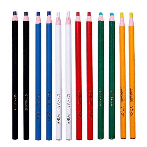 JERKKY Lápiz de Cera, 12 Piezas Marcador despegable Lápiz de Grasa Lápiz de Cera de Colores Rollo de Papel Lápiz de Cera para Materiales de Arte de Tela de Vidrio de Metal
