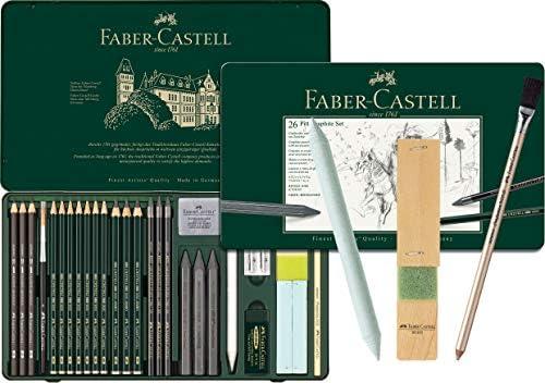 Faber-Castell 112974 - Pitt Graphite Set im Metalletui, groß, 26-teilig