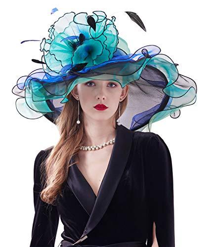 Organza Ruffles Fascinators Hat