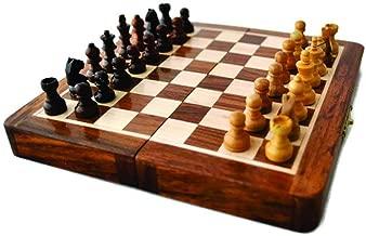 مجموعة الشطرنج المغناطيسية من ThewilSwank مع خشب ناعم كلاسيكي يدوي الصنع
