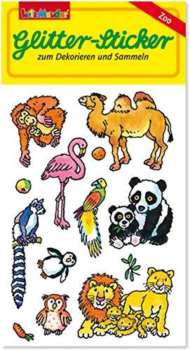 Glitter-Sticker * ZOOTIERE * von Lutz Mauder | 72307 | als Mitgebsel für Kinder | Zoo Tiere Aufkleber zum Kindergeburtstag & Basteln