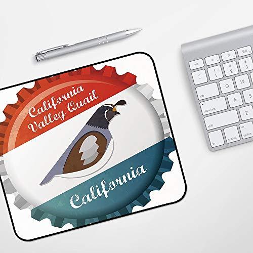 Gaming Mousepad Mauspad,Mann Höhle Dekor, handgezeichnete Bier Emblem mit Buffalo Ox Bull Premium Brauerei Hafer Auswahl dekorativ, sc,Komfort Mousepad - verbessert Präzision und Geschwindigkeit