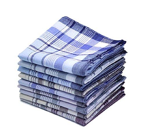 Ducomi Nutex zakdoeken voor heren van katoenmix, 40 x 40 cm