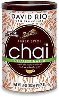 David Rio Mix, Decaf Tiger Spice, 14 Ounce (Pack of 1)