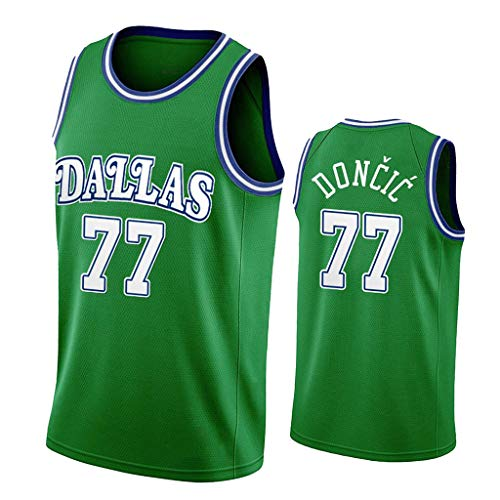 ZRHZB Dallas Mavericks #77 Luka Doncic Unisex Camiseta De Baloncesto De Los Hombres Transpirable All-Star Jersey(Tamaño: S-XXL),B,XXL