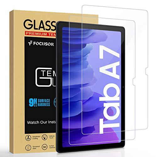 Focusor Panzerglas für Samsung Galaxy Tab A7, (10.4 Zoll, Tab A7 10.4 T500/T505/T507), 9H Festigkeit, Anti-Kratzer, Bildschirmschutz Panzerglas für Samsung Tab A7 [High Definition], 2 Stück