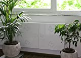 Heizkörperverkleidung, 62 x 60 cm Design: Butterfly, weiß (Marke: Szagato) (Heizkörperabdeckung Abdeckung für Heizkörper Heizungsverkleidung)