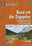 Hikeline Wanderführer Rund um die Zugspitze. Die schönsten Wanderungen im Wettersteingebirge und in den Ammergauer Alpen, 1 : 50 000, wasserfest und reißfest, GPS zum Download