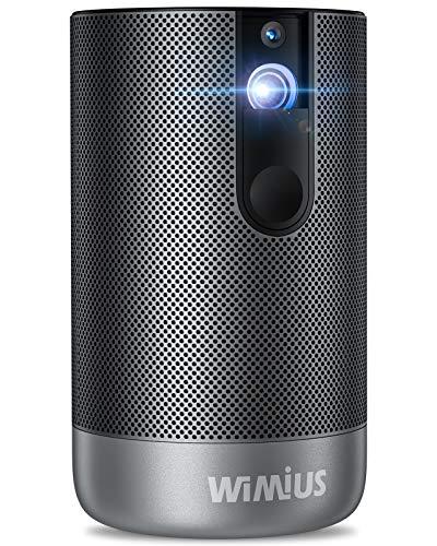 WiMiUS プロジェクター 500ANSIルーメン Android7.1搭載 フルHD1920*1080P 4K対応 オートフォーカス機能 タッチパネル 高品質スピーカー 大容量バッテリー 8000mAH 低騒音 ポータブル コンパクト 小型 DLP ホームシアター 家庭用