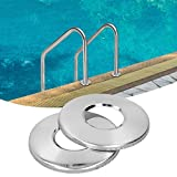 Placa para barandilla de Piscina o SPA, Piezas de Repuesto de barandilla de Piscina de Tubo de Escalera, Acabado de Acero Inoxidable anticorrosión, Juego de 2