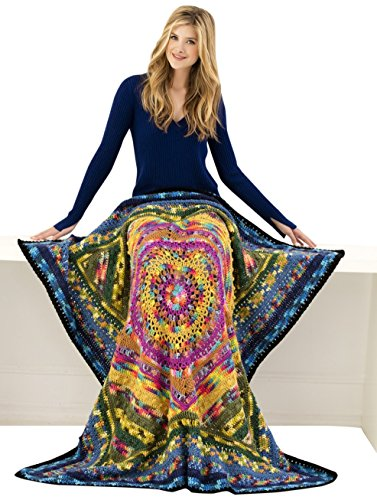 Lion Brand Yarn 600-567 Mandala Afghan Crochet Kit