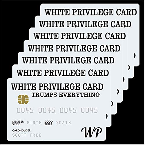 5 /10/15PCS White Privilege Card Trumps Everything Credit Card - White Privilege Card Trumps Everything Wallet Insert Card - Funny Plastic Wallet Card Joke Gag Gifts Inspirational Card Gifts (5PCS)
