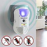 SHOP-STORY - 5-en-1 Répulsif Anti-Insectes - Repulse par Ultrason Rongeurs, Souris, Insectes, Parasites et Autres