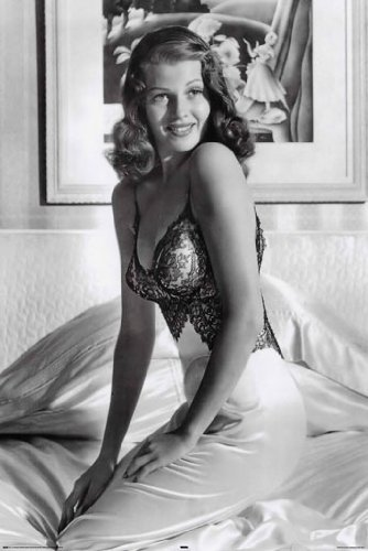 Gilda Rita Hayworth Huge Vintage PAPER Movie Poster Measures 36 x 24 Inches (91.5 x 61cm) approx