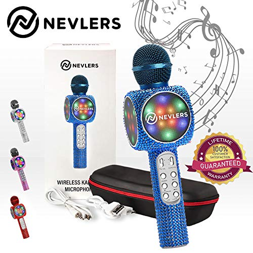 Best Review Of NEVLERS Karaoke Microphone with Wireless Bluetooth Speaker, Voice Changer and Colorfu...