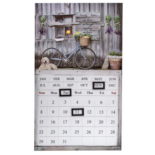 LED Kalender, Timeplaner, Dauerkalender Bild Fahrrad, Wandkalender, H 50cm
