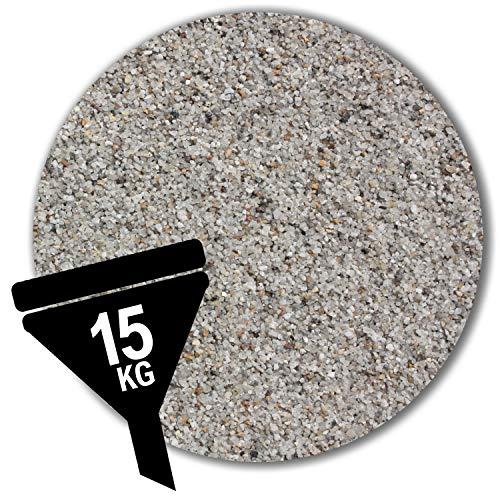 Müller GmbH 15 kg Filtersand Filterkies hellgrau Filterquarzsand 11 Körnungen (0,71-1,25 mm)