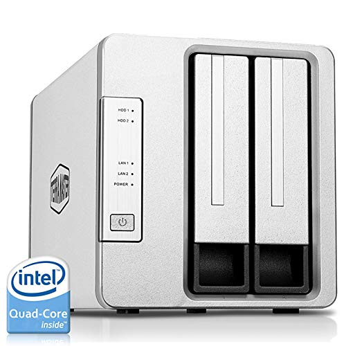 TERRAMASTER F2-421 NAS 2bay Cloud Storage Intel Quad Core 1.5GHz Plex Media Server Netwerkopslag (schijfloos)