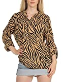 Malito Mujer Blusa con Animal-Print 3/4 Túnica Parte Superior Top 6705 (Amarillo Oscuro)