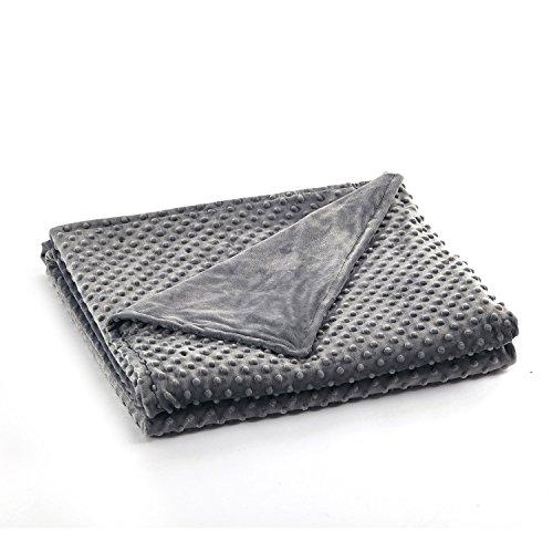 RelaxBlanket 60''x80'' Duvet Cover for Weighted Blanket | Premium Super Soft Minky Dot | Dark Grey
