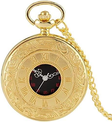 CCXXYANG Co.,ltd Necklace Antique Fashion Roman Numeral Display Quartz Pocket Watch Fob Chain Clock Necklace Pendant for Men Women Friends