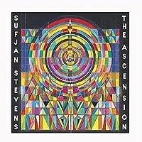 装飾ギフトアセンションスフィアンスティーブンス音楽アルバムカバーキャンバス絵画ポスターと家の装飾のためのプリント-60X60CMフレームなし