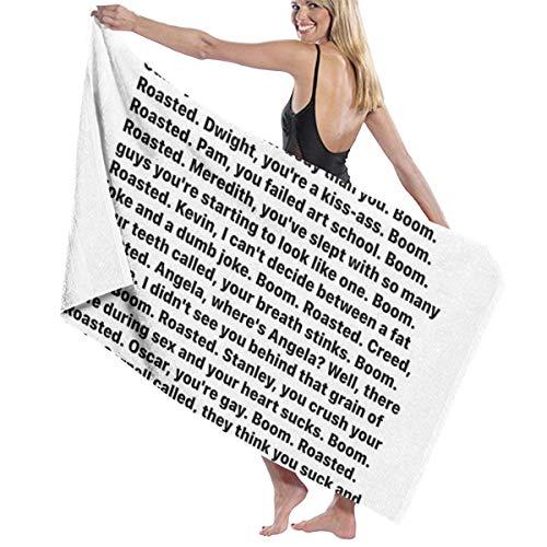 Michael Scott's Boom Roasted Speech Microfiber Bath Towel Beach Towel Beach Blanket Quick Dry Towel for Travel Swim Pool Yoga Camping Gym