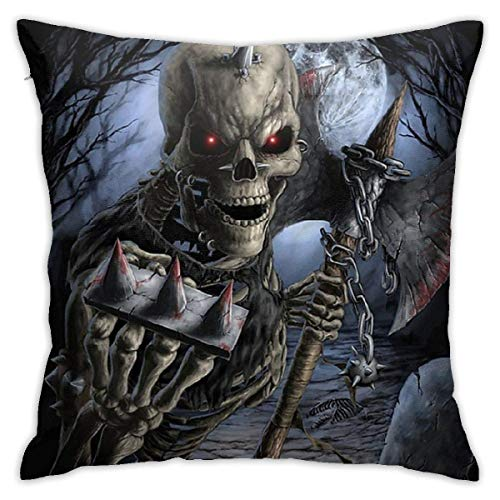 XCNGG Skeleton Pillow Covers Cushion Cover Cases Pillowcases Sofa Couch Bed Home Decor 18'X 18'Inch