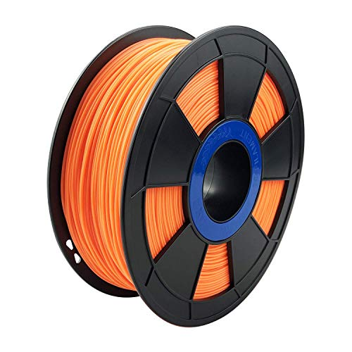 ZIRO 3D Printer Filament PLA PRO Fluorescence Series 1.75mm 1KG(2.2lbs), Dimensional Accuracy +/- 0.05mm,Fluo orange