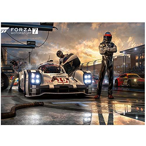 HYLLVC Puzzle Adult 1000 Forza Motorsport 7 Puzzle de 1000 pièces Game Jeux de Famille Amusants, Divertissement de Relaxation et de méditation (75x50cm)