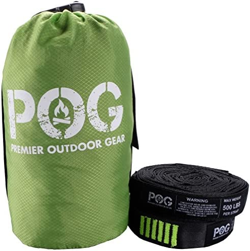 POG Premium Double Hammock Ripstop Nylon with Aluminum Carabiners 9 Feet Long Straps Included product image