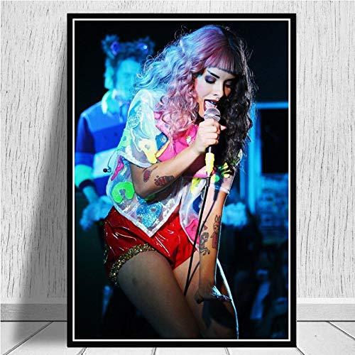 Melanie Martinez Cantante De Música Pop Estrella Arte Lienzo Pintura Pared Carteles E Impresiones Sala De Estar Decoración del Hogar 40X50Cm Ll-1873