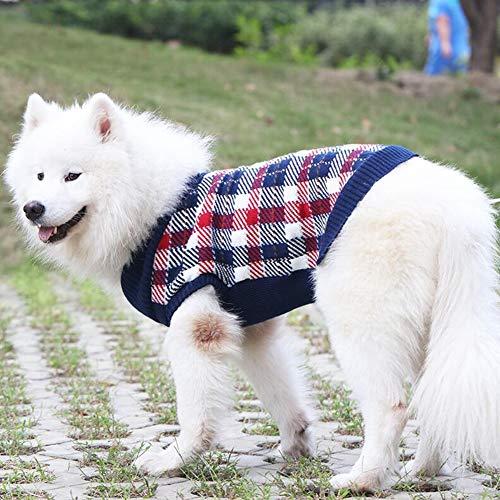 XY klassieke kabel gebreide hond trui-huisdier coltrui jas puppy winter kleding hond geruite trui