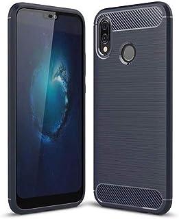 Protection Cover Carbon Fiber Desine, Flexible Planner for Huawei Nova 3e / P20 Lite (Dark Blue)