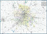 """Kansas City Metro Area Laminated Wall Map (58"""" Wide by 42"""" high)"""