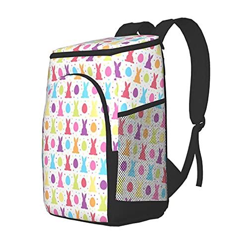 Funny Club Mochila de almuerzo, mochila de picnic aislada, bolsa de hielo colorida huevos de Pascua, impermeable, ligera para camping, pesca