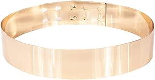 Shengweiao Sleek Gold Mirror Metal Waist Belt