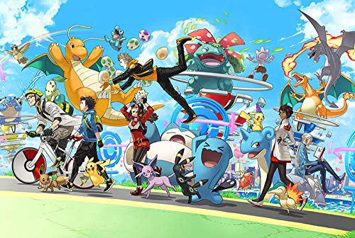TDDEV Piezas de Rompecabezas de Madera Dibujos Animados Anime descompresión para Adultos Juguetes educativos para niños Regalos para niños y niñas Amigos- tabletas violetas Pokémon 1000ps