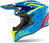 AIROH WRST99 Casco integrale Off-Road per moto blu lucido WRAAP STREET SZ. XL.
