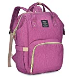 Qimiaobaby Diaper Bag Backpack, baby Nappy storage travel bag (purple)