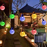 Solar String Lights Outdoor Waterproof, 2 Pack 20.8ft 30LED Solar Globe String Lights, 8 Modes Multicolor Solar Christmas Lights for Garden Patio Yard Wedding Holiday Party Decoration