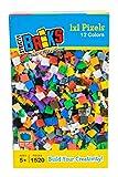 strictly briks - set mattoncini tessere pixel - 100% compatibile con tutte le principali marche - 1520 pezzi 1x1 - 12 colori