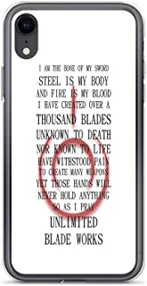 iPhone 6 Case iPhone 6s Case Clear Anti-Scratch Shock Absorption Fate Stay Night Unlimited Blade Works Archer and Shirou Quote with Command Seal Cover Phone Cases for iPhone 6/iPhone 6s